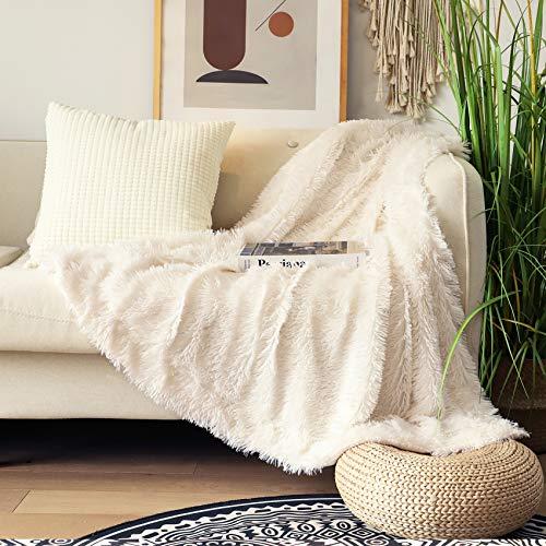 Decorative Extra Soft Fuzzy Faux Fur Throw Blanket