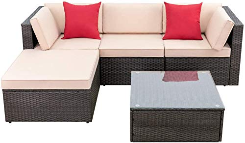 Devoko 5 Pieces Patio Furniture Sets All Weather