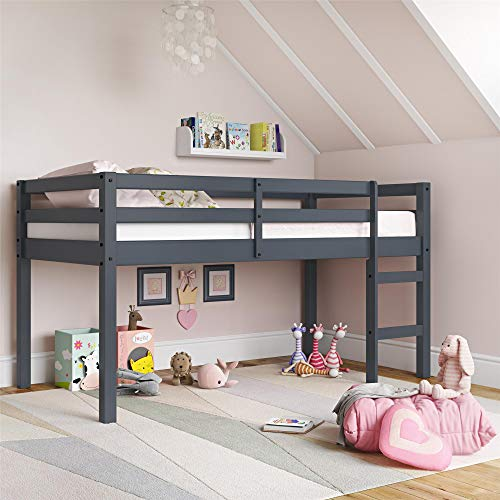 Dorel Living Milton Junior Twin Loft Bed, Gray
