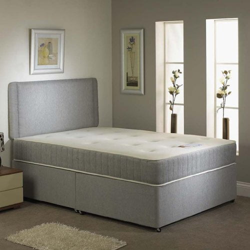 "Hf4youmemory Non-turn Divan Bed- 5ft - 20"" Cream"