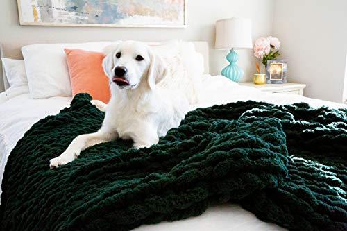 Kaffrey Luxury Chenille Chunky Knit Blanket -