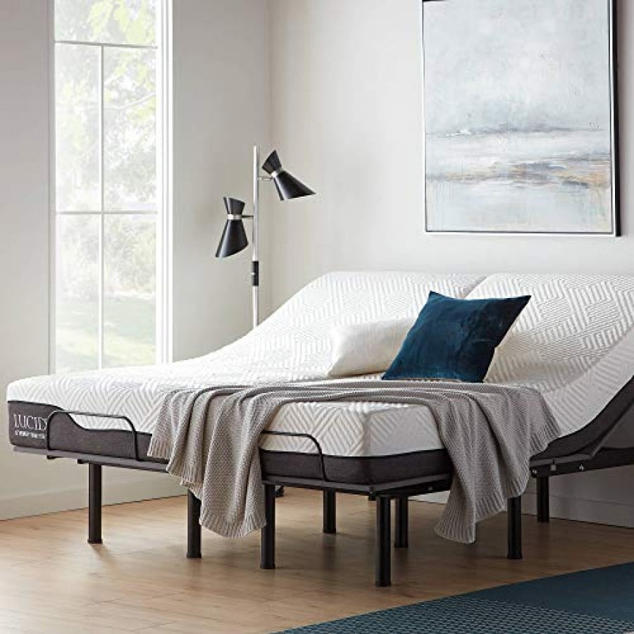 Lucid L150 Bed Base Upholstered Frame