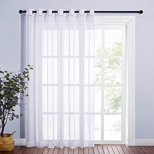 Nicetown Patio Door Sheer Curtain - Vertical Voile