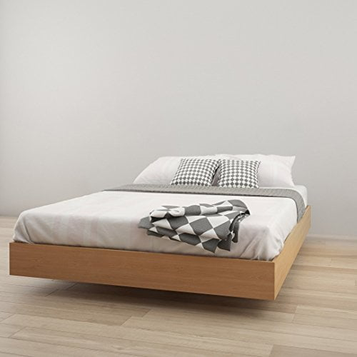Nordik Queen Size Platform Bed, Natural Maple