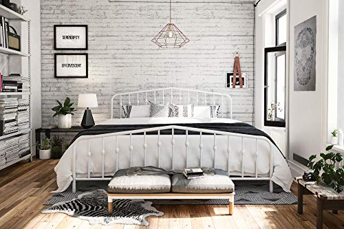 Novogratz Bushwick Metal Bed With Headboard And