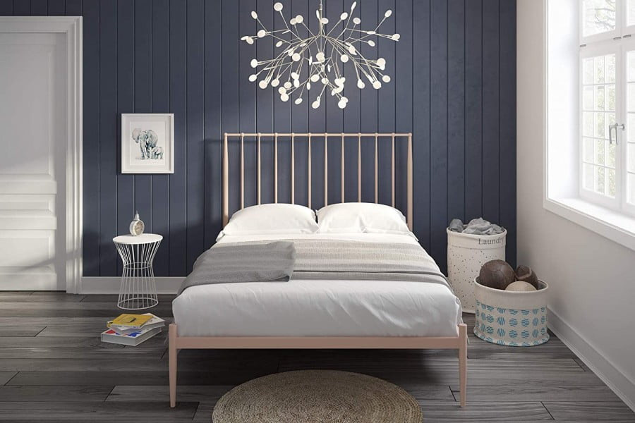 Novogratz Nicole Metal Bed With Storage