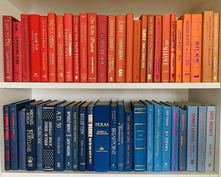 Real Books By Color For Decor | Choose Your Colors
