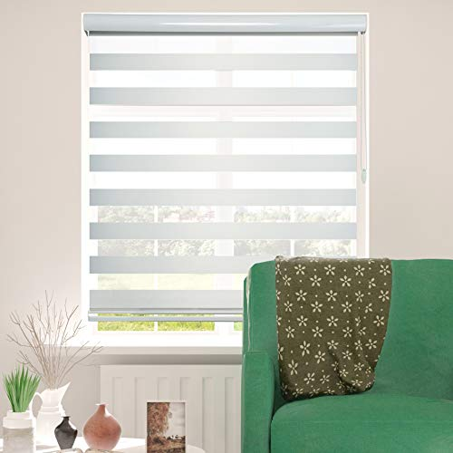 Shadesu Window Blind Dual Layer Zebra Roller Light