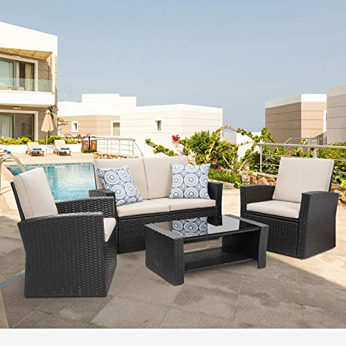 Shintenchi 4-piece Outdoor Patio Furniture Set,