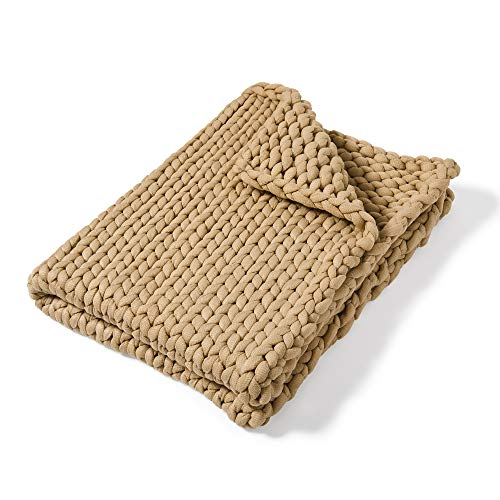 Throw Blanket - Chunky Knit Taupe By Donna Sharp -
