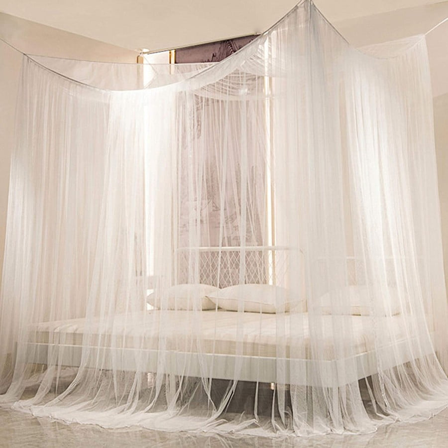Twinkle Star 4 Corner Post Bed Canopy, Elegant