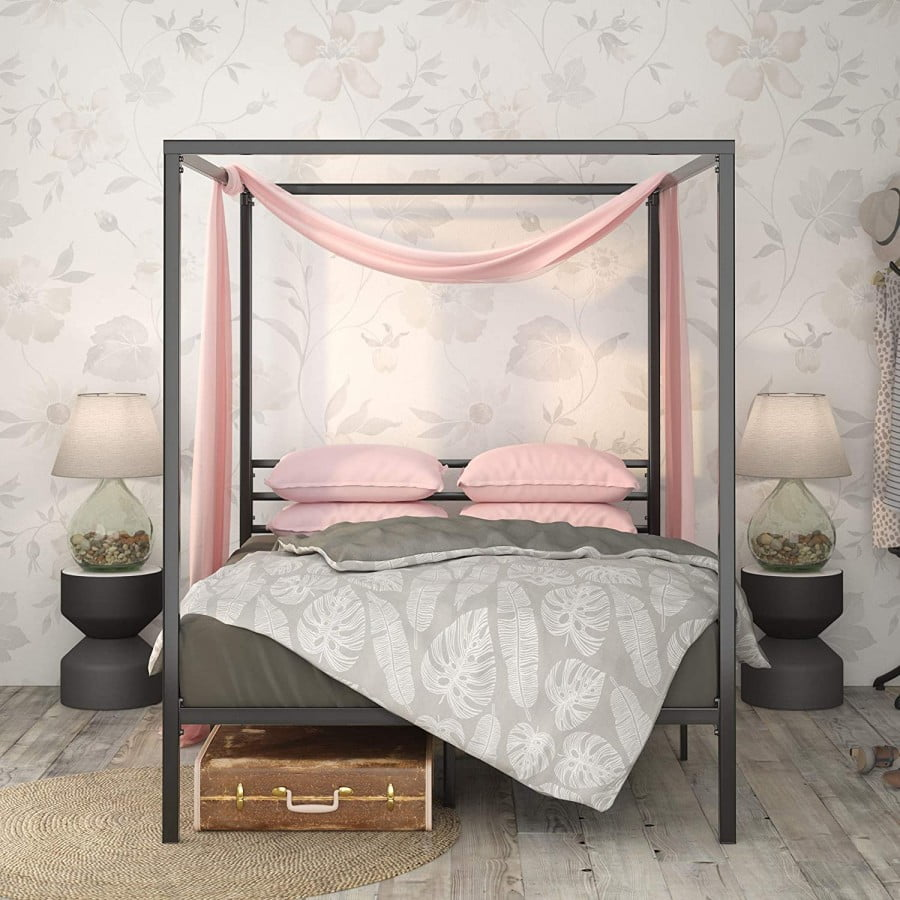 Zinus Patricia Metal Framed Canopy Four Poster