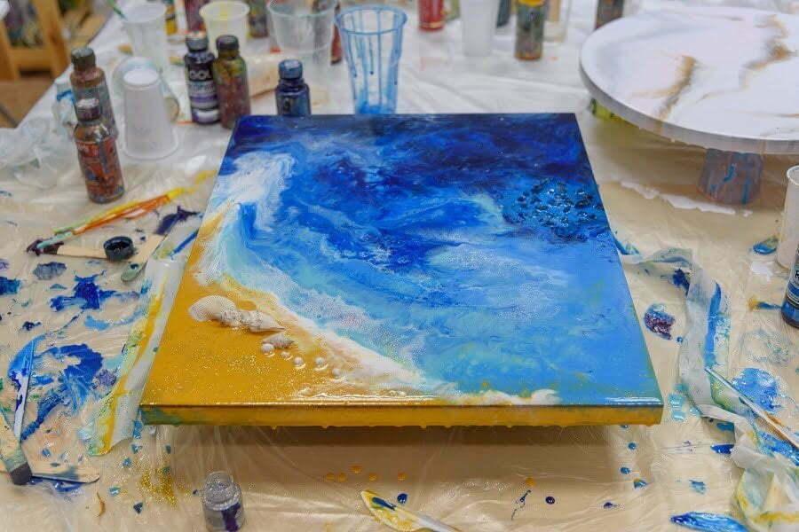 acrylic pouring process