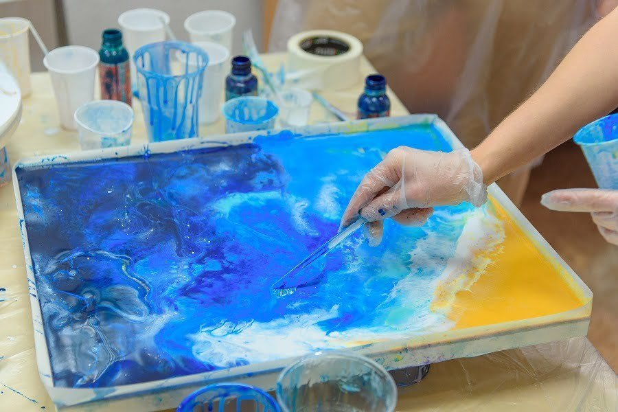 acrylic pouring steps