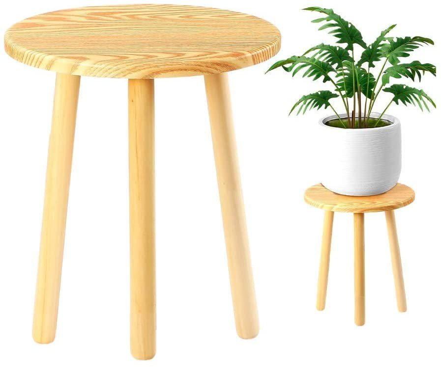 Eco Joy Mid Century Plant Stand, Small Side Table