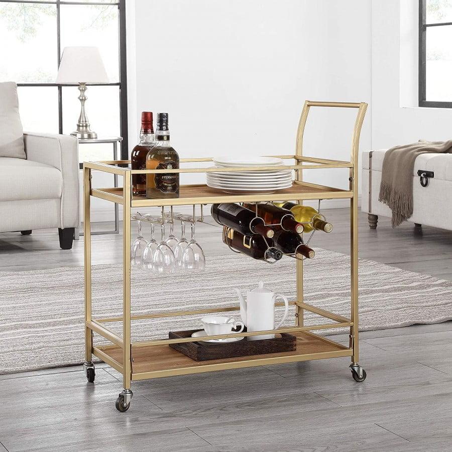 """Firstime & Co. Francesca Bar Cart, 32""""h X 15""""w X"""
