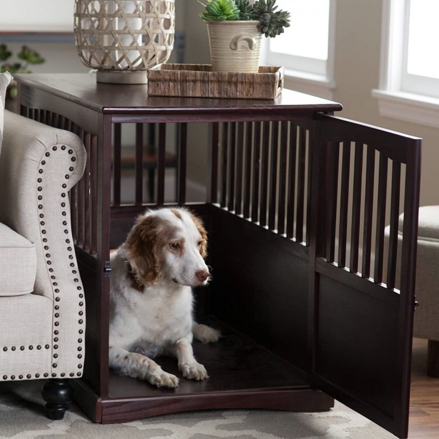 Newport Dog Crate Kennel Cage Bed Night Stand End