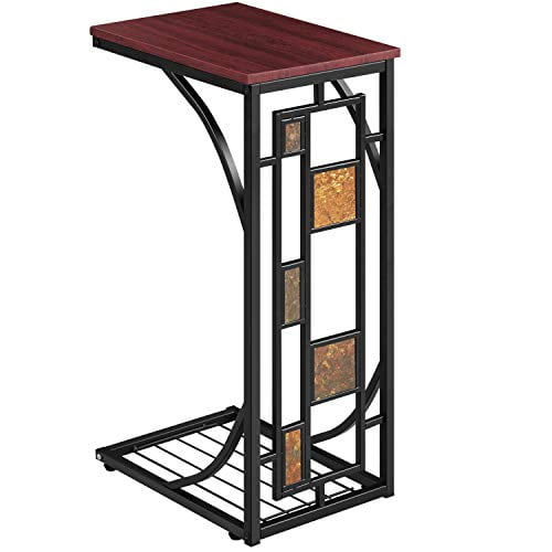 Topeakmart C-shaped Table Sofa Side Table Snack