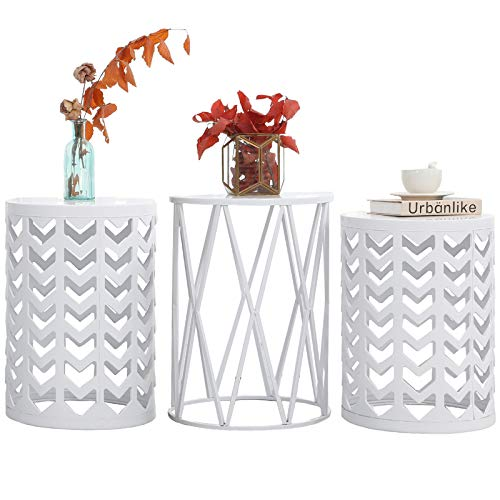 Y&m Nesting Side Table, Set Of 3 Stacking Coffee