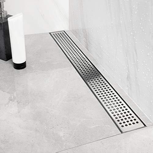 Neodrain 24-inch Linear Shower Drain With Quadrato