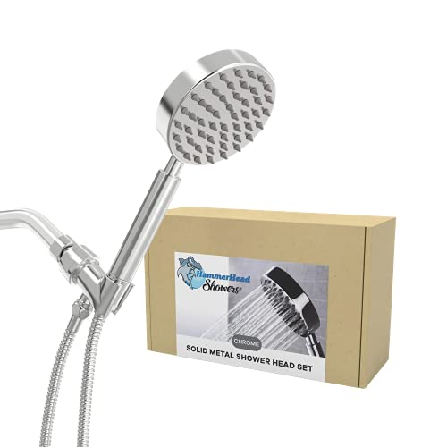 All Metal Hand Held Shower Head With Hose And
