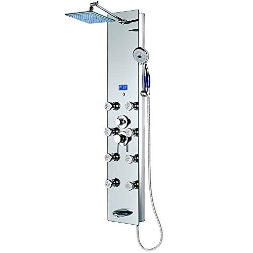 "Blue Ocean 52"" Aluminum Spa392m Shower Panel Tower"