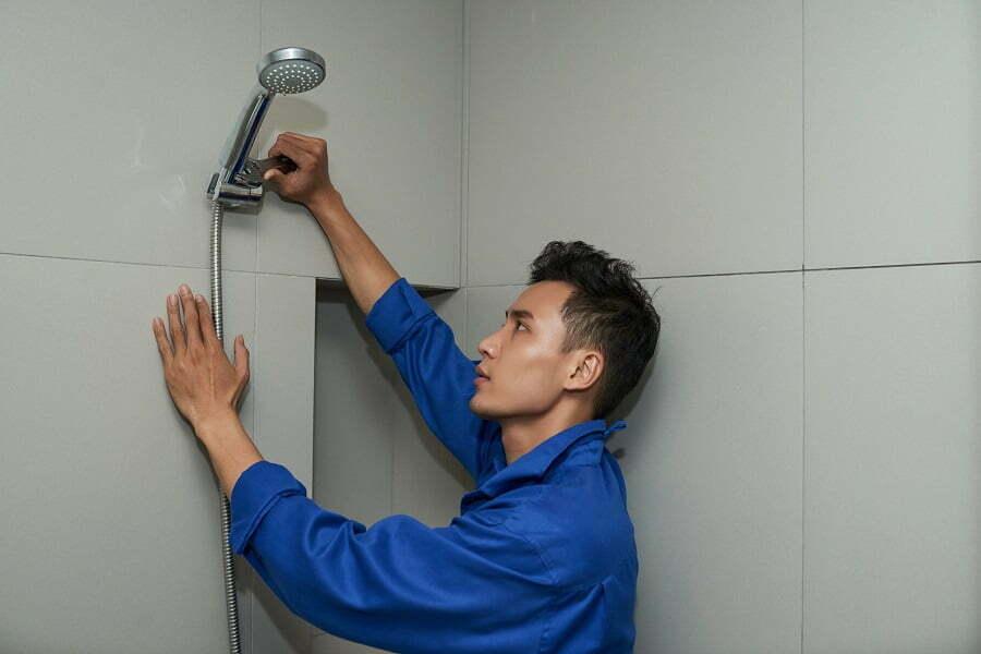 install showerhead