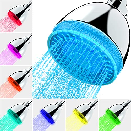 Led Shower Head, 7 Color Flash Light Automatically