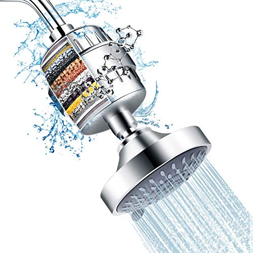 Shower Head And 15 Stage Shower Filter Combo,