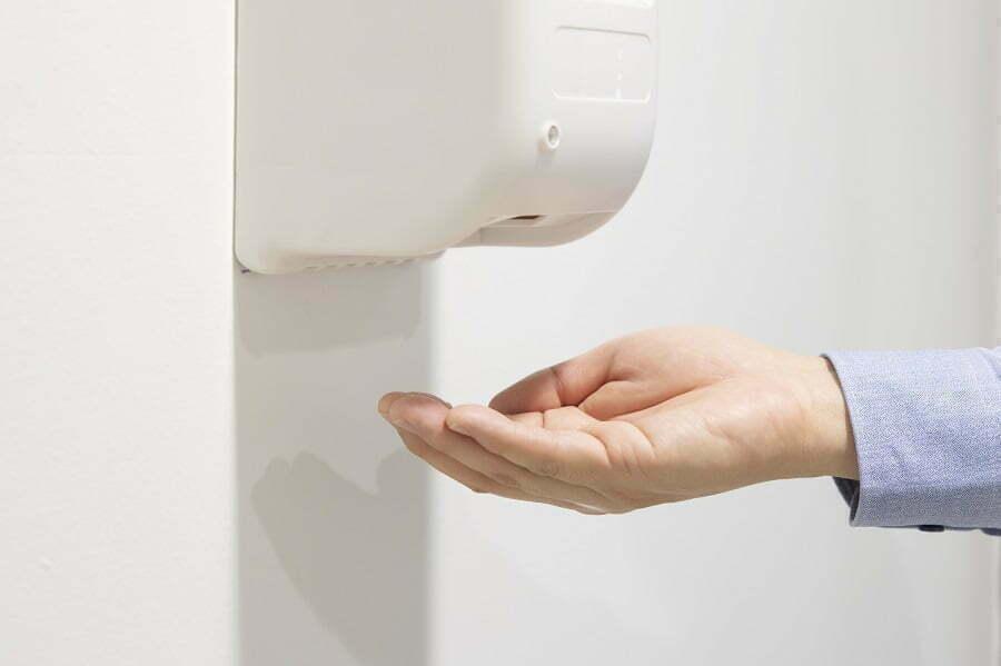 broken automatic soap dispenser