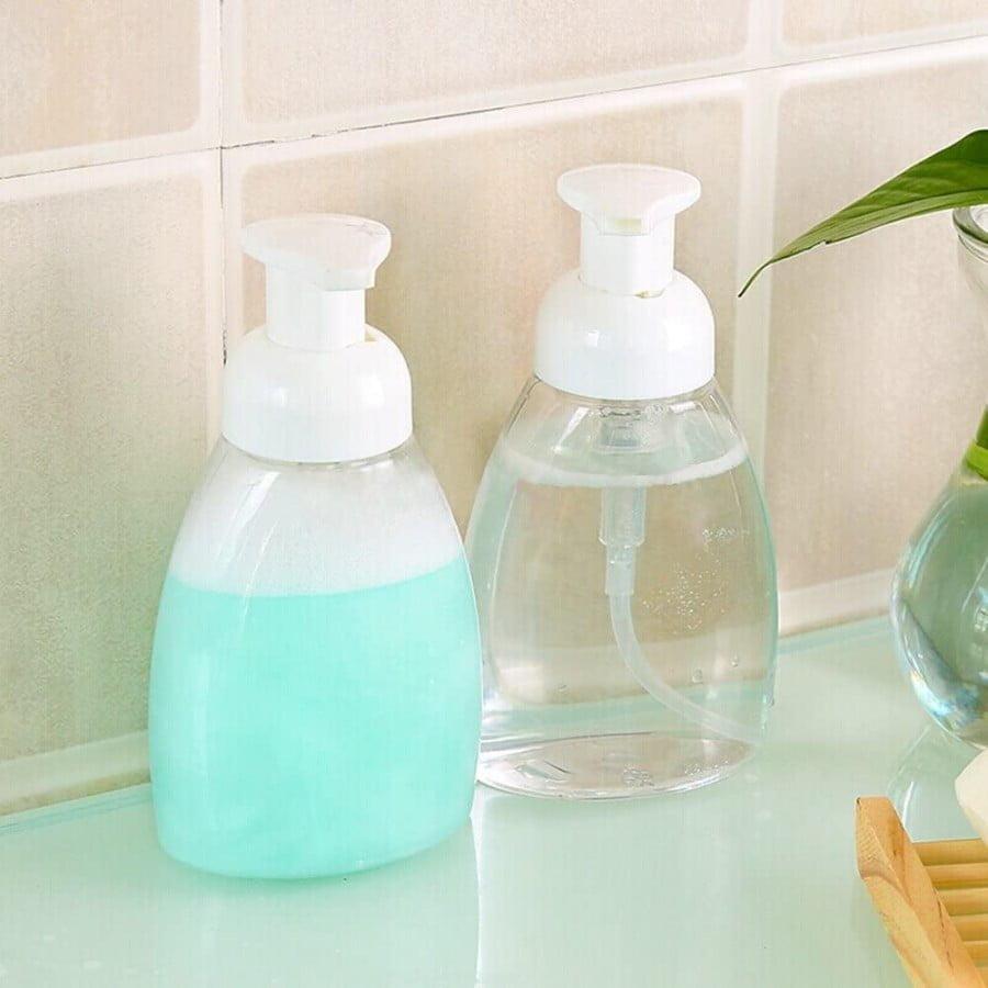 Oval Clear Plastic Soap Dispenser Pump Bottles