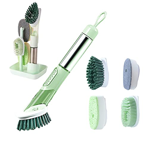 Upgrade Leakproof Hand-held Dish Scrubber With